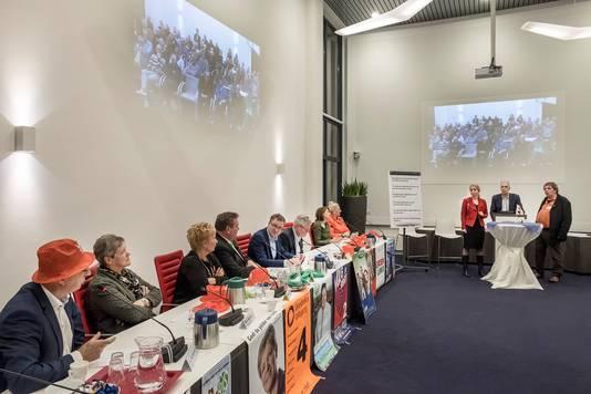 Het lijsttrekkersdebat in het gemeentehuis in Groesbeek.