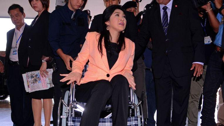 De Thaise premier Yingluck Shinawatra. Beeld afp
