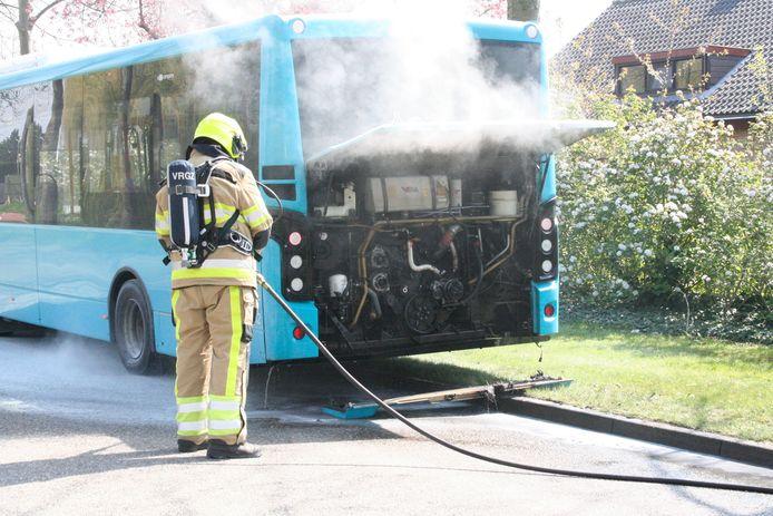 De toegesnelde brandweer had het vuur snel onder controle