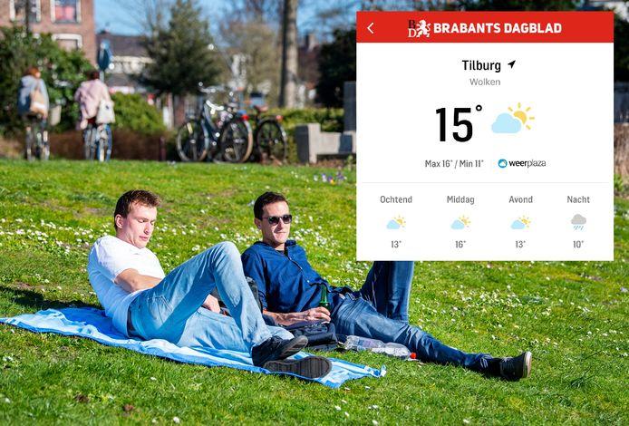 Kun je lekker naar buiten, of beter een uurtje wachten? Je leest het voortaan gedetailleerd in de BD-app.