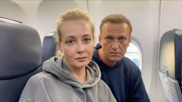 Ioulia Navalnaïa et Alexeï Navalny.