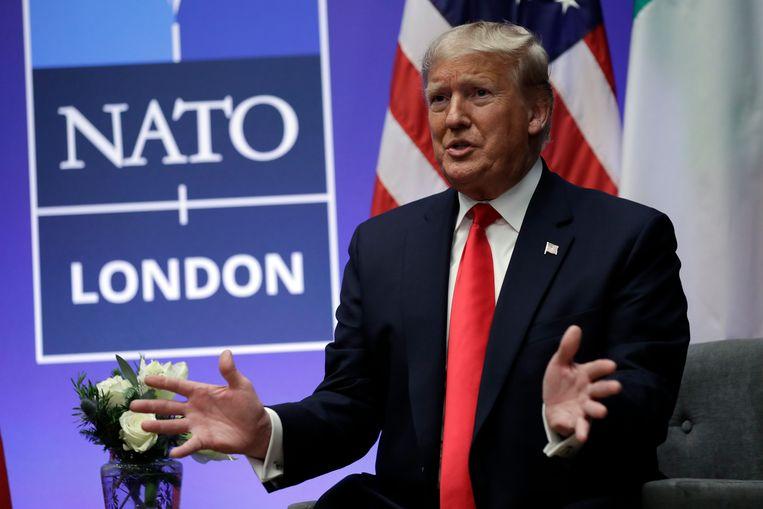 President Donald Trump tijdens de NAVO-top in Londen, december 2019. Beeld AP