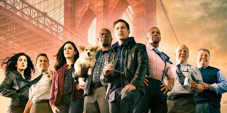 De cast van Brooklyn Nine-Nine.  Beeld