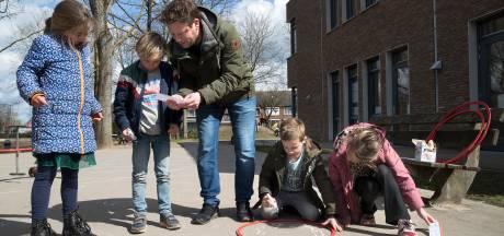 Onderwijs én bewegen in de buitenlucht in Oud-Zevenaar: en dat gelukkig met mooi weer