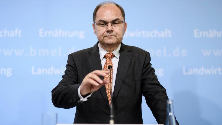 De Duitse minister van Landbouw Christian Schmidt. Beeld epa