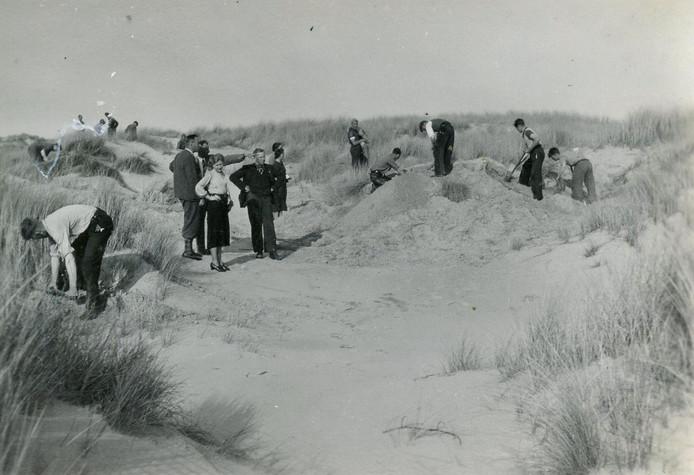 Werkkamp De Schaapskooi in de duinen, 12 april 1939.