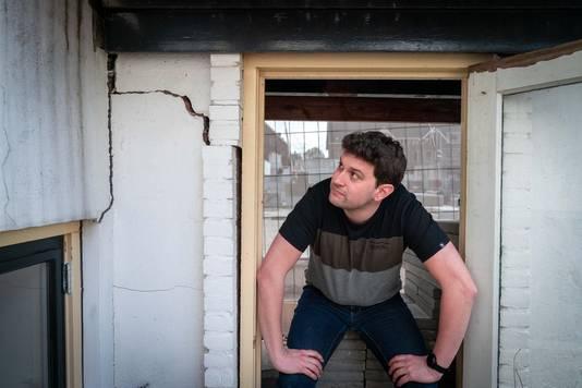 Guido Diemel, bewoner van een verzakte woning in omgeving van nieuwbouw Boulevard-kwartier in Arnhem.