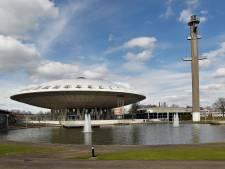 Evoluon Eindhoven in de etalage