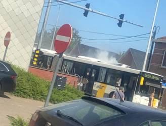 Lijnbus vat vuur in Lubbeek