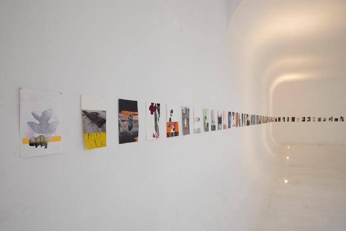 René Korten: Werk op papier in de voormalige studio in Hilvarenbeek. Foto Tineke Schuurmans