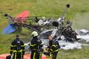 De piloot kwam om het leven bij de crash.