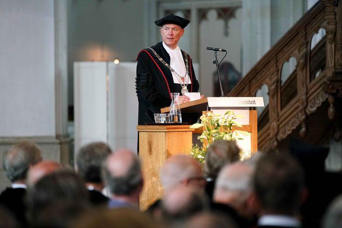 Rector magnificus'Han van Krieken tijdens de opening van het vorige academisch jaar.