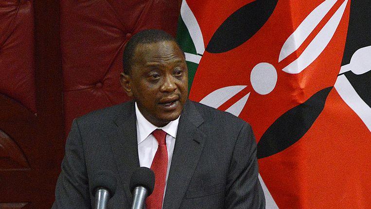 De Keniaanse president Uhuru Kenyatta. Beeld AFP