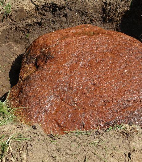 Bijzondere granieten markesteen bij Zenderen gevonden