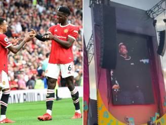 Opvallend: Paul Pogba staat paar uur na zege met Manchester United te dansen op festivalpodium