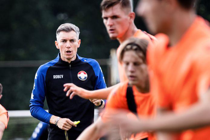Willem Weijs als trainer bij Willem II.