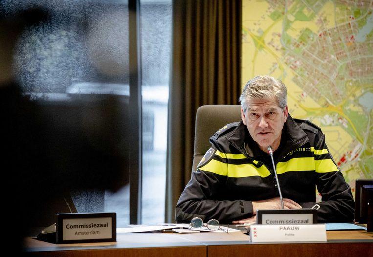 Hoofdcommissaris van de politie Frank Paauw Beeld ANP