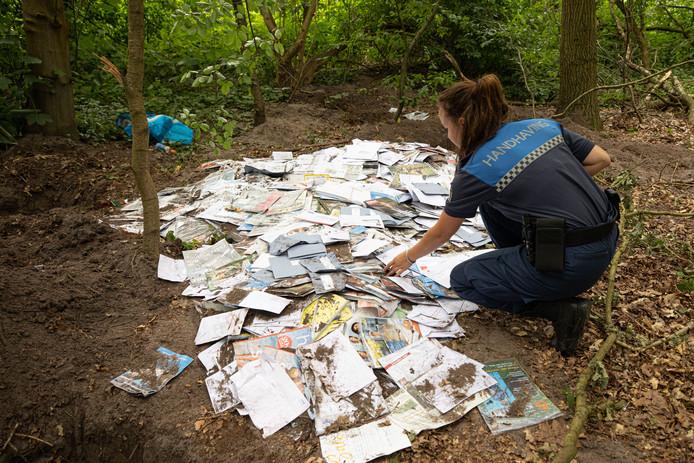 Tienduizenden poststukken van Sandd werden opgegraven in Laren.