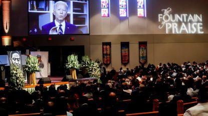 """Joe Biden richt zich in videoboodschap op begrafenis tot dochter van George Floyd: """"Je vader zal de wereld veranderd hebben"""""""
