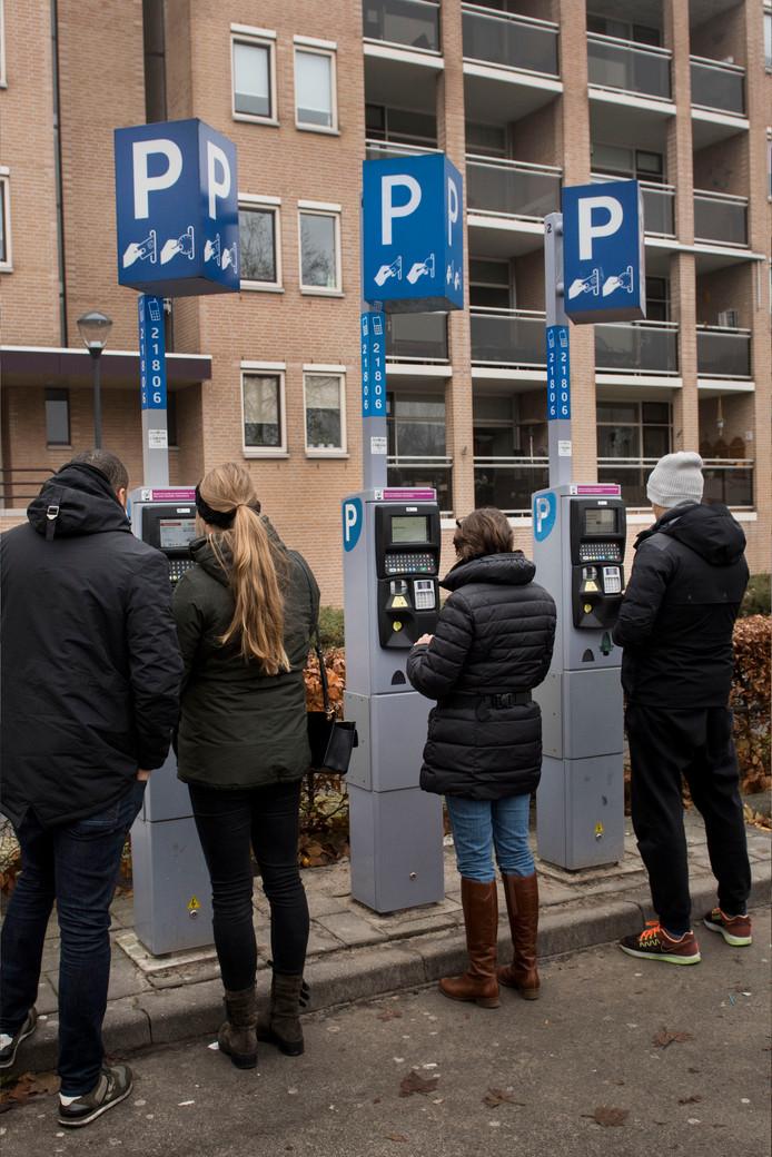 De parkeermeters op de Vlaszak in Breda.