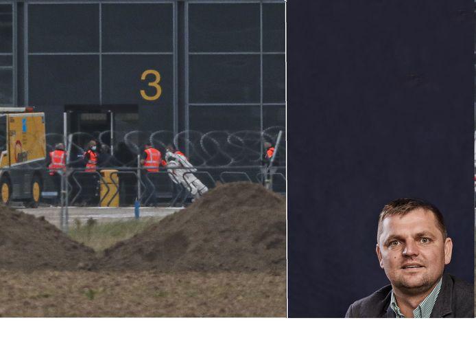 La reconstitution du décès de Jozef Chovanec à l'aéroport de Charleroi vient de se terminer
