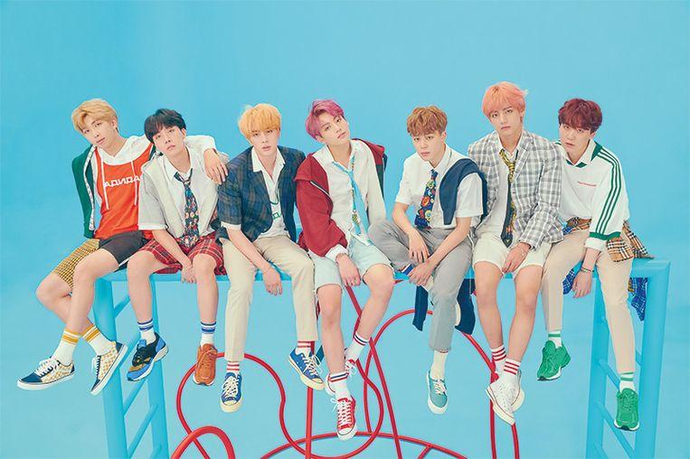 Populaire boyband BTS. Beeld