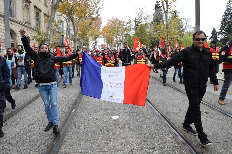 Demonstraties in Montpellier. Beeld AFP