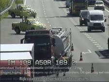Vrachtwagen met zwavelzuur op A50 zorgt voor vertraging