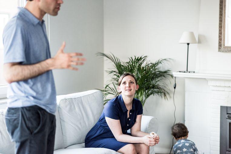Aaron en Charlotte Wajnberg, met hun bijna tweejarig zoontje. Beeld Tine Schoemaker