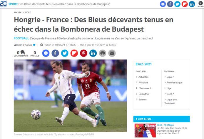 20 Minutes over de Franse nationale ploeg.