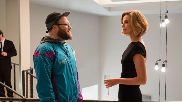 Seth Rogen en Charlize Theron in 'Long Shot'. Beeld rv