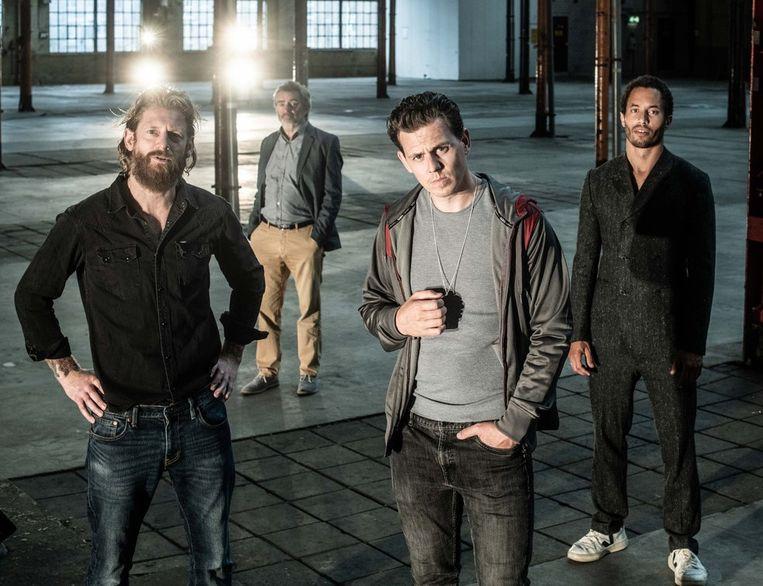 De Achterkant. Van links naar rechts: Björn van der Doelen, Michiel Kerbosch, Mike Weerts en Erwin Boschmans. Beeld Bart Grietens