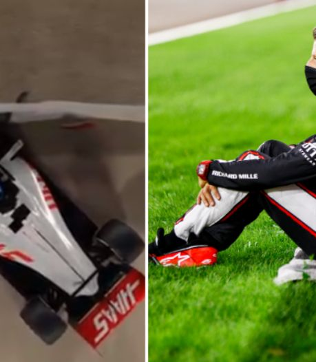 Animatie: zo overleefde Romain Grosjean horrorcrash in Bahrein