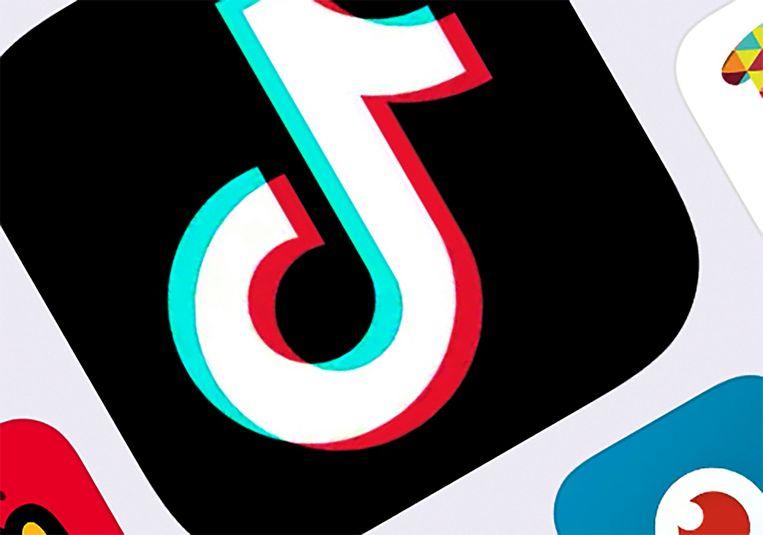 Het TikTok-logo. Beeld AP
