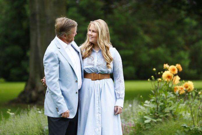 Koning Willem-Alexander en prinses Amalia.