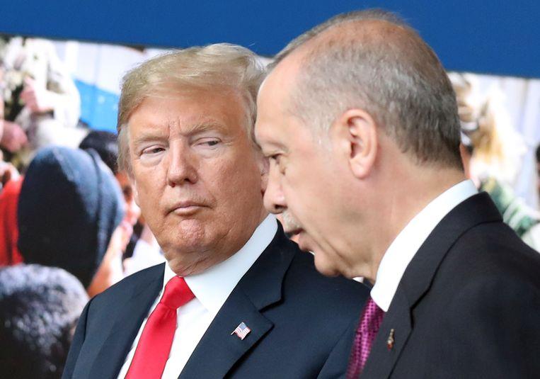 De aankondiging van de Turske president kan de crisis met de VS verergeren. Beeld AFP