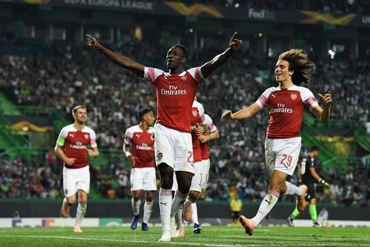 Danny Welbeck maakte de winnende goal voor Arsenal tegen Sporting Lissabon.