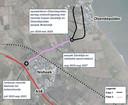 De provincie wil de aanpak van de Zanddijk tussen de A58 en Yerseke opknippen in drie fases. Het bedrijfsleven in Yerseke heeft vooral haast met de 'zwarte tak', een nieuwe weg tussen het bedrijventerrein den Zanddijk.