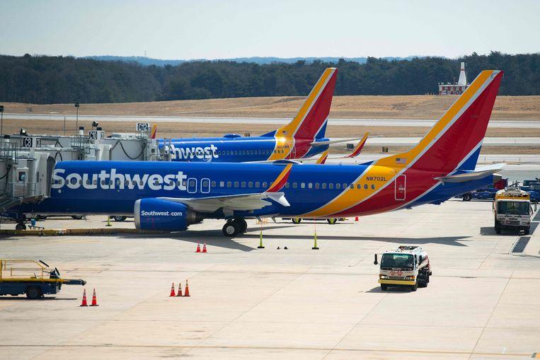 Boeings 737 Max van Southwest Airlines. Beeld AFP