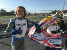 Racemonster Joep Breedveld (13) scheurt het liefst met 120 kilometer per uur over de kartbaan