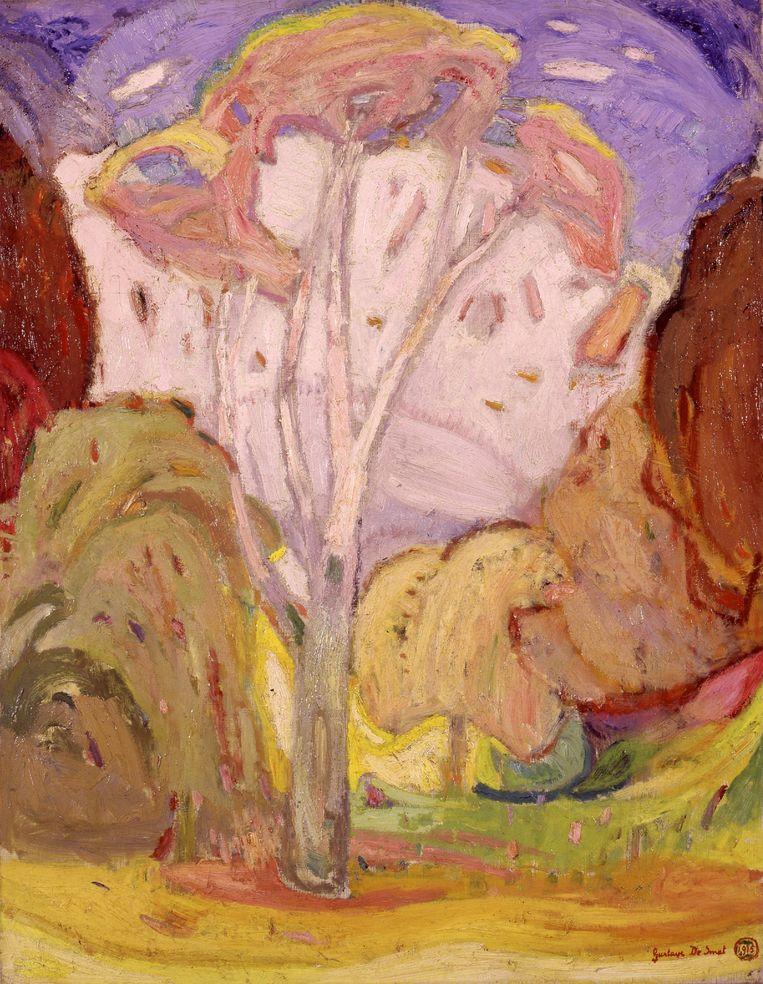 Herfst in het Vondelpark van Gustave De Smet.  Beeld Particuliere collectie