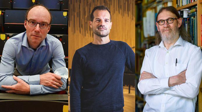 Peter Goos (47), Stijn Joye (39), Jean-Paul Van Bendegem (67).