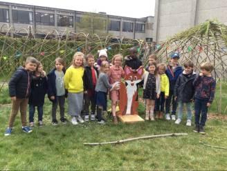 Leerlingen van KBO Sint-Jozef Oudenaarde nemen Wilgenhut en groene speelzone in gebruik