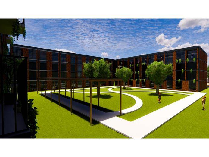 Het spoedzoekerscomplex aan het Heuvelplein/Beukelaarstraat in Veghel zoals het eruit ziet in de nieuwe plannen.