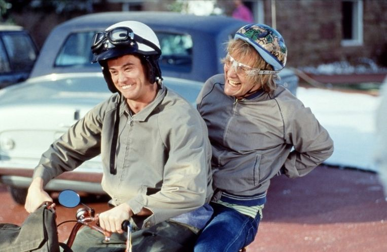 Jim Carrey en Jeff Daniels in 'Dumb and Dumber'. Beeld UNKNOWN