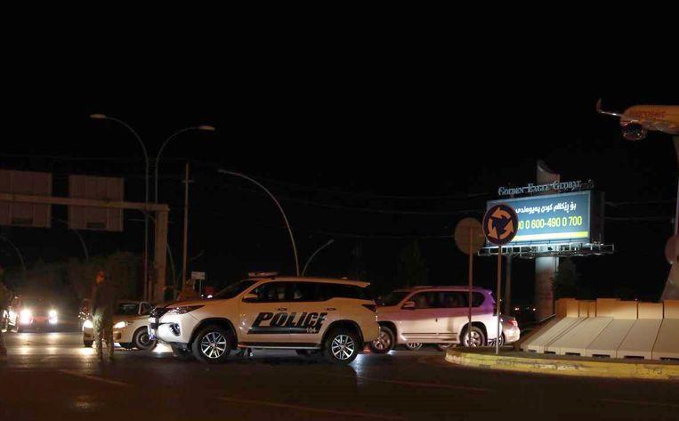 Ambulances and veiligheidsdiensten op weg naar de plek van de explosie. Beeld Getty Images