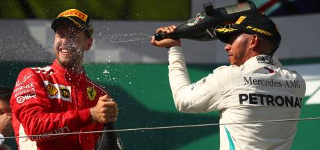 Hamilton vreest snellere Ferrari: 'Mag nog niet aan de wereldtitel denken'
