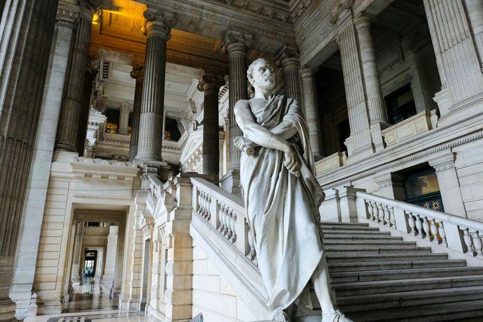 Het justitiepaleis in Brussel, waar Z. al talloze keren voor de rechter moest verschijnen