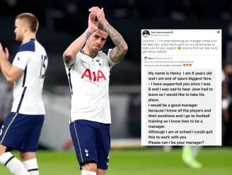 Alderweireld smelt bij berichtje van achtjarige fan die coach van Tottenham wil worden en geeft hem gesigneerd truitje