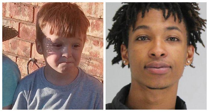 De om het leven gebrachte Cash Gernon (4).  Rechts: verdachte Darriynn Brown (18).